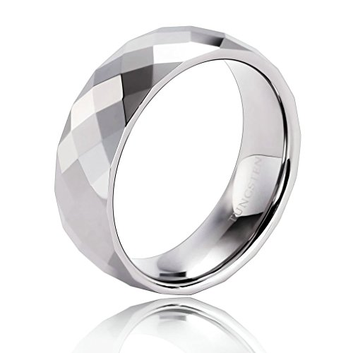 His N Hers Halloween Costumes (Epinki Tungsten Ring, Men's Wedding Bands Polished Rhombic Section Domed Silver Size 7)