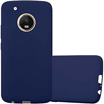 2348d3d554a Cadorabo Funda para Motorola Moto G5 Plus en Candy Azul Oscuro - Cubierta  Proteccíon de Silicona TPU Delgada e Flexible con Antichoque - Gel Case  Cover ...