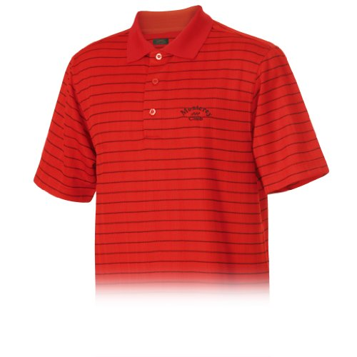 Monterey Club Men's Dry Swing Jacquard Short Sleeve Shirt #1612(Red/Black,Small)