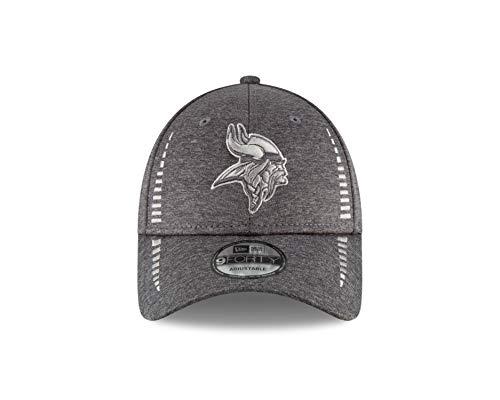 New Era Minnesota Vikings 9Forty NFL Graphite Shadow Speed Adjustable Hat