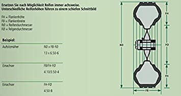 DT Parts Schneeketten-Satz f/ür kleine Maschinen Spurkreuzkette 18x8.50-8