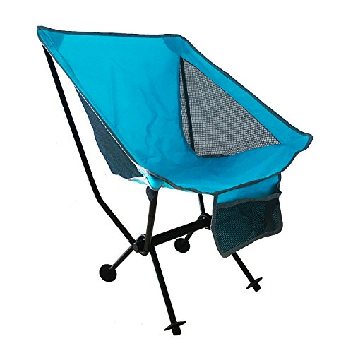 Reliancer Portable Camping Chair Compact Ultralight Folding Beach Hiking Backpacking Chairs Ultra-Compact Moon Leisure Chair Heavy Duty 250lbs for Hiker Camp Fishing w/Cup Holder Carrying Bag