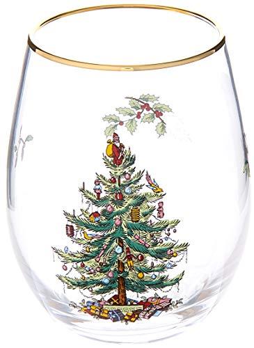 (Spode Christmas Tree Stemless Wine Glasses (Set of 4))