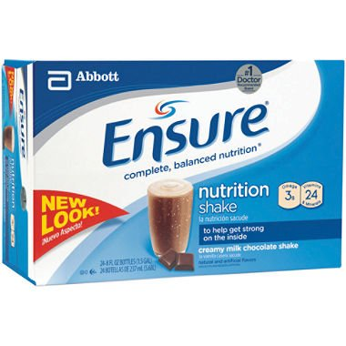 Ensure Nutrition Drink Chocolate Bottles 24 X 8oz Case