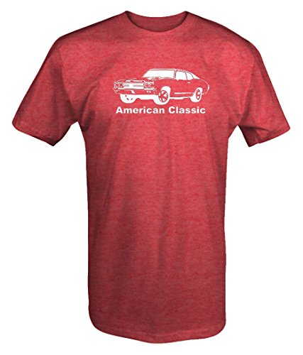 American Classic Chevy Chevelle Nova Muscle Car V8 T shirt - Large