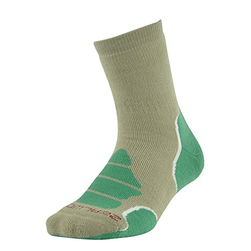 Heavyweight Thermal Comfort Hiker Crew Length Sock,ZEALWOOD Men's Merino Wool Hiking Skiing Thermal Socks Winter Warm Boot Socks Wool Brown Green ()
