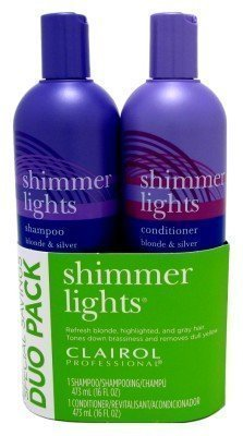 Clairol Shimmer Lights Combo 16 oz. Shampoo/16 oz. Conditioner Blond-Silver