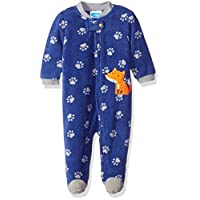 BON BEBE Baby Boys' Microfleece Zip Front Coverall with Applique, Cute Fox Bl...