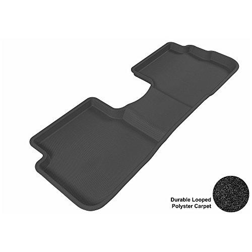 Carpet Deluxe Vibe - 3D MAXpider Second Row Custom Fit Floor Mat for Select Pontiac Vibe Models - Classic Carpet (Black)