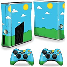MightySkins Skin For Xbox 360 S Slim + 2 controllers – Gamer Landscape | Protective, Durable, and Unique Vinyl Decal wrap cover | Easy To Apply, Remove, and Change Styles | Made in the USA