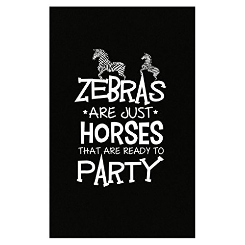 Green Cow Land Zebras are Just Horses That are Ready to Party - Poster