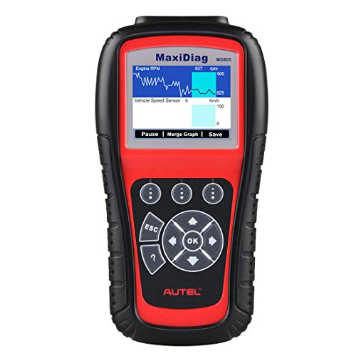 Autel MaxiDiag MD805 OBD2 Scanner Full System Diagnostic Tool with Engine, Transmission, ABS, Airbag, EPB, Oil Reset -Advanced Version of MD802
