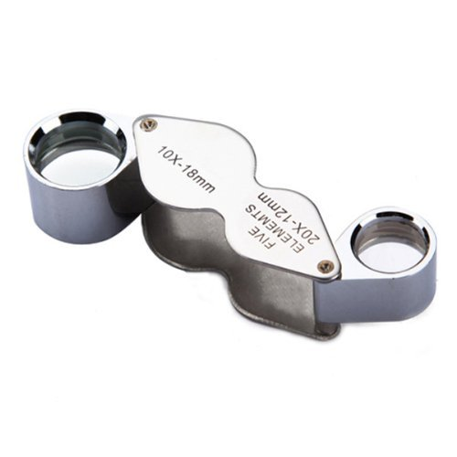 10X 20X Mini Dual Magnifier Pocket Magnifying Eye Glass Loupe Loop Microscope Jeweller - Excellent For Any - Eyeglasses Definition