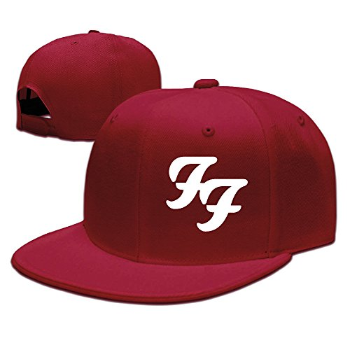 Foo Fighters Rock And Roll Primary Logo Adjustable.Fitted Flat Baseball Cap (Fitted Logo Roll)