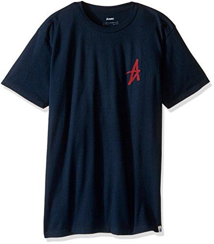 Tee Altamont (ALTAMONT Men's Mini Decade Icon T-Shirt, Navy/Red, Small)