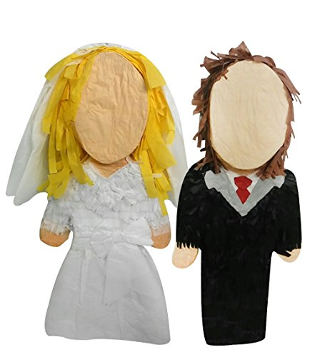 Pinatas Custom Bride Groom Wedding Couple, Personalized Decoration Centerpiece, Money Card Holder, Party Game and Photo Prop -