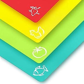 Amazon Com Plastic Cutting Mat Set Quality Thin Cutting