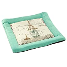 Indoor/Outdoor Soft Home/Office Squared Cute Soft Seat Breathable Chair Cushion, Eiffel Tower