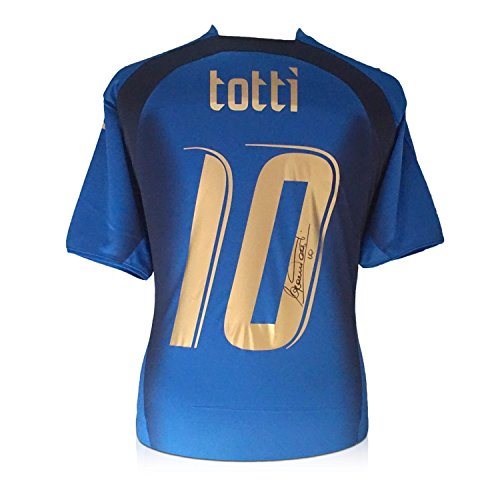 Francesco Totti Signed Italy 2006 World Cup Winners Football Jersey 2006 Italy World Cup