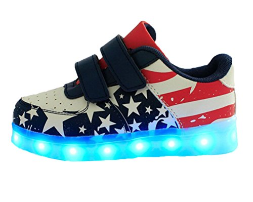 Ake Girls Junden LED Light Schuhe USB Charging Luminous Sneakers Skidproof  Flashing Sport Shoes Blue ...