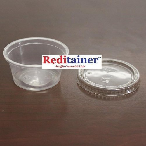 Reditainer RDSC200100 Plastic Disposable Portion Souffle Package 2 Ounce Count