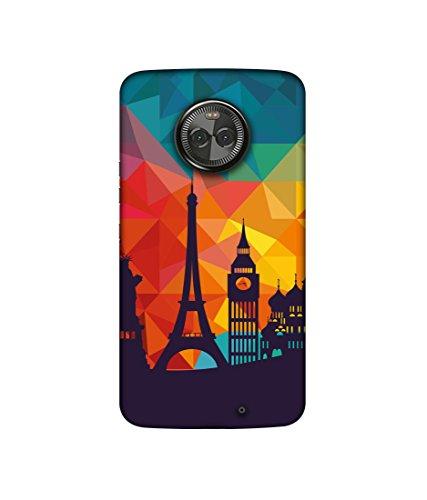 Casotec Colored Paris Design 3D Printed Hard Back Case Cover for Motorola Moto X4