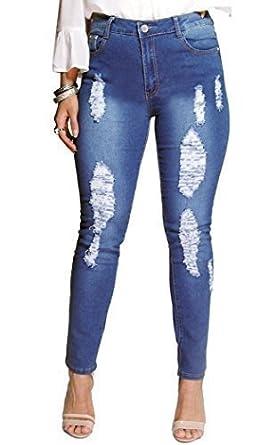 17c4d975904 SS7 Women s Stretch Slim Rip Jeans