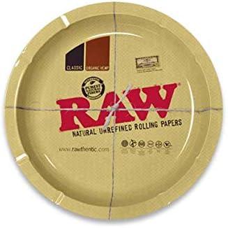 RAW - Bandejas para liar tabaco, esterillas y ceniceros Round Large Classic Ashtray Cenicero clásico redondo grande.: Amazon.es: Hogar