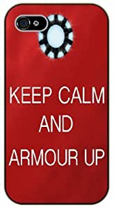 iPhone 5 / 5s Keep Calm and armour up - black plastic case / Keep Calm, Motivation and Inspiration