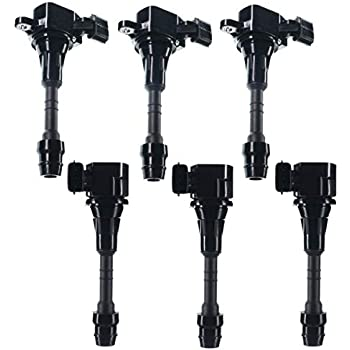 Set of 6 Ignition Coils Pack for Nissan Altima Frontier Maxima Murano Pathfinder Quest Xterra Infiniti I35 QX4 Suzuki Equator 3.5L 4.0L