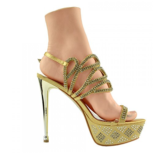 Pole Dancing Footwear Platform High Charmaine Kick Clear Shoes Perspex Ab3909 Gold Heels Womens Fashion SvBwqznTx