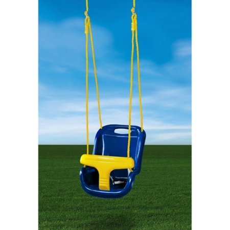 Easy Assembly Safe and Sturdy Gorilla Playsets High Back Infant Swing, Blue by Gorilla Playsets