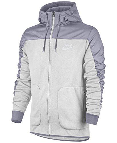 Nike Mens Sportswear AV15 Full Zip Hooded Sweatshirt Grey Heather/Cool Grey/White 807415-063 Size X-Large