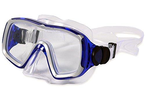 Aquazon Taucherbrille Nizza, Blau Transparent, Senior, AQMANIBL