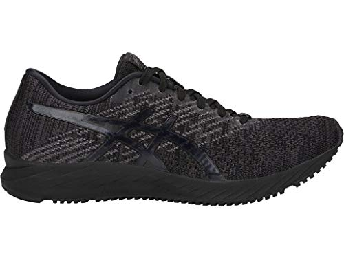 ASICS Women's Gel-DS Trainer 24 Running Shoes, 8.5M, Black/Black (Best Motion Control Running Shoes For Flat Feet)