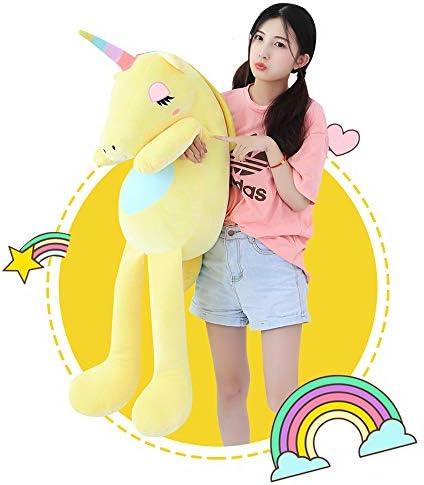 Yellow Unicorn Stuffed Animal Cute Unicorn Cartoon Plush Doll Toy For Baby 25cm
