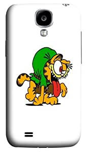 Halloween Garfield 3 Polycarbonate Hard Case Cover for Samsung Galaxy S4/Samsung Galaxy I9500 3D