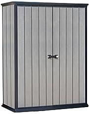 KETER/Chalet-Jardin 12-929616 Brossium Armoire Résine Gris 138 x 80,5 x 185 cm