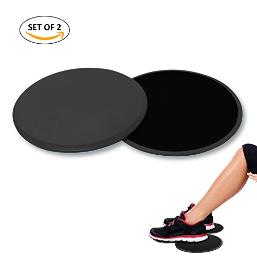 Gliding Discs Core Workout Exercise Sliders 4-FQ 2 Dual Sided Gliding Sliding Discs for Core Health, Ultimate Core Coach, Fitness center, Carpet and Hardwood Floors Home Abdominal Exercise Equipment – DiZiSports Store