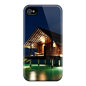 Case Cover Ocean Landscapes Nature Night Houses/ Fashionable Case For Iphone 4/4s