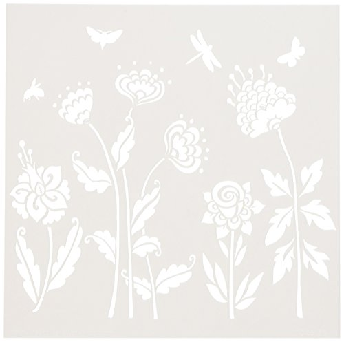 CRAFTERS WORKSHOP TCW6X6-513 Bible Journaling Stencil - Flying Garden (6 X 6)