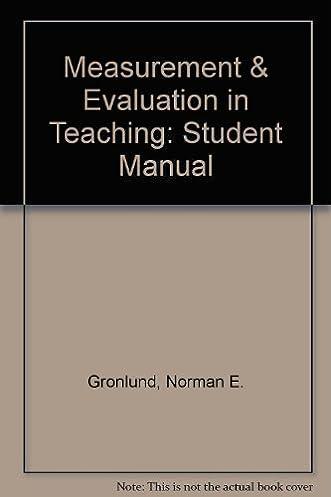 measurement evaluation in teaching student manual norman e rh amazon com Water Measurement Manual 3rd Edition Petroleum Measurement Manual