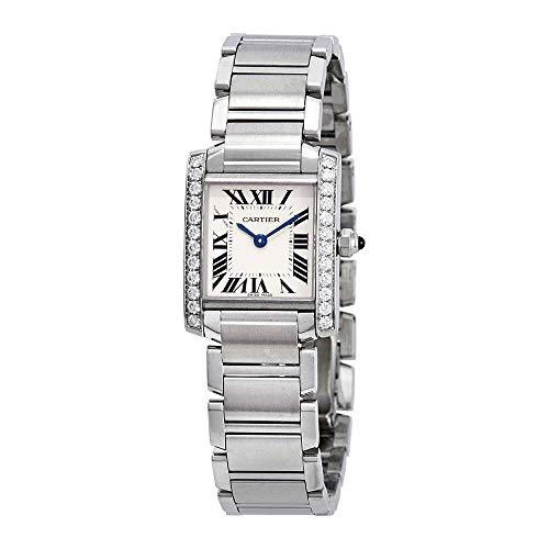 (Cartier Tank Francaise Silver Dial Ladies Watch W4TA0008)
