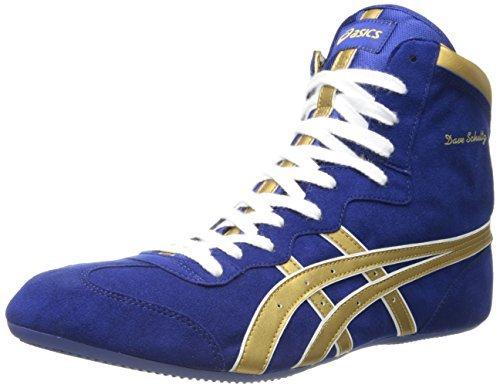 ASICS Men's Dave Schultz Classic Wrestling Shoe,Royal Blue/Gold,8 M US