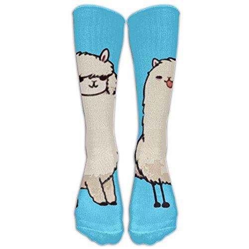 Yoigng Crew Socks Alpaca Mens Womens Knee High Tube Dresses Liner Cosplay - Fit Socks Crew Crew Trim