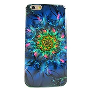 LZX Beautiful Flowers Pattern Soft TPU Case Cover for iPhone 6