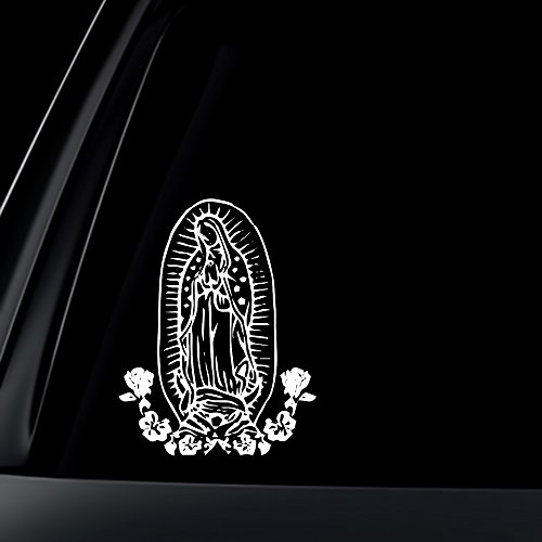 virgin-mary-w-flower-car-decal-sticker