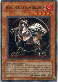 Yu-Gi-Oh! - Horus The Black Flame Dragon LV4 (SOD-EN006) - Soul of the Duelist - Unlimited Edition - Rare - Black Flame Dragon