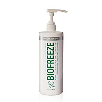 Biofreeze Pain Relief Gel for Arthritis, 32 oz. Bottle With Pump, Fast Acting Cooling Pain Reliever for Muscle, Joint, & Back Pain, Cold Topical Analgesic with Colorless Formula, 4% Menthol