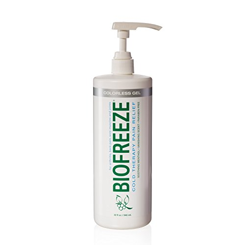 Biofreeze Pump (Biofreeze Pain Relief Gel for Arthritis, 32 oz. Bottle With Pump, Fast Acting Cooling Pain Reliever for Muscle, Joint, & Back Pain, Cold Topical Analgesic with Colorless Formula, 4% Menthol)